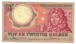 Paesi Bassi. DE NEDERLANDSCHE Bank. 25 GULDEN 10-4-1955 Lotto 2288 - 20 Mark