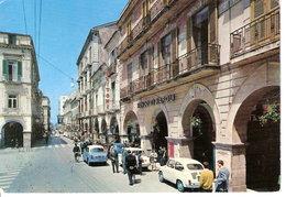 1971 - Cava Dei Tirreni - Corso Italia - Sede Comitato Festeggiamenti Monte Castello - Banca Di Napoli - Animata Auto - Cava De' Tirreni