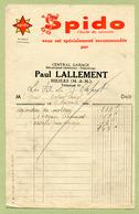 """BIESLES  (52) : """" GARAGE AUTOMOBILE - Paul LALLEMENT """"  1936  SPIDO - France"""