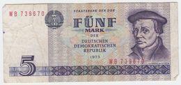 Germany DDR P 27 - 5 Mark 1975 - Fine+ - [ 6] 1949-1990 : RDA - Rep. Dem. Tedesca