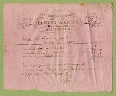 """NEUFCHATEAU  (1859) : """" TANNERIE De PAPIGNY-MARTIN """" - France"""
