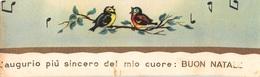 """09137 """"SEGNALIBRO - L'AUGURIO PIU' SINCERO DEL MIO CUORE: BUON NATALE - 1930""""  UCCELLINI. ORIG - Segnalibri"""