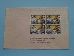 > Zie / Voir / See PHOTO > Stamp FELDPOST > Adres > Oberleutnant FRITZ Michel > Spiez Bern ( Zie Foto's Voor Details ) ! - Militaria