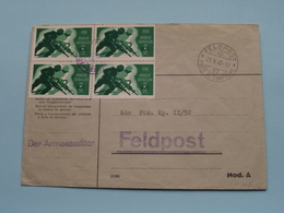 Der Armeeauditor > Zie / Voir / See PHOTO > Stamp FELDPOST 1940 > Adres > Kdo Füs Kp II/52 ( Zie Foto's Voor Details ) ! - Militaria