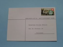 BÄCKER-KP.8 - Aktivdienst 1939 Karte > Zie / Voir / See PHOTO > Adres > Lausanne ( Zie Foto's > PK ) ! - Militaria
