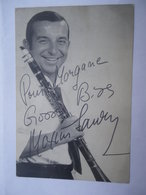 CPM Maxim SAURY Avril 1965 Dédicacée Pathé Marconi - Musicien De Jazz Né à Enghien-les-Bains - Autographes