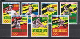 PARAGUAY:  1971  MONACO  '72  -  S. CPL. 7  VAL  N. -  MICHEL  2139/45 - Paraguay
