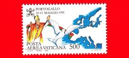 Nuovo - MNH - VATICANO - 1992 - Viaggi Di Giovanni Paolo II Nel 1991 - POSTA AEREA - Portogallo - 500 - Poste Aérienne