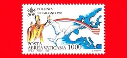 Nuovo - MNH - VATICANO - 1992 - Viaggi Di Giovanni Paolo II Nel 1991 - POSTA AEREA - Polonia - 1000 - Poste Aérienne