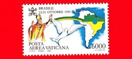 Nuovo - MNH - VATICANO - 1992 - Viaggi Di Giovanni Paolo II Nel 1991 - POSTA AEREA - Brasile - 6000 - Poste Aérienne