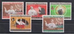 PARAGUAY:  1965  VIAGGIO  DI  PAOLO  VI°  -  S. CPL. 5  VAL  T.L. -  MICHEL  1487/91 - Paraguay