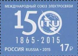 Russland Russia 2015 MNH ** Mi Nr. 2167 150th Aniv Of ITU - Unused Stamps