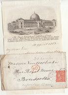"""LAC à En Tête  3è Exposition Universelle Londres """"Industries Et Arts"""" 1862 (voir Détails Et Scans) - Documentos Históricos"""