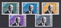PARAGUAY:  1964  L. A. DE  HERRERA  -  S. CPL. 5  VAL  N. -  MICHEL  974/78 - Paraguay