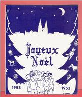 CHARTRES 1953 COMITE DE LA SOCIETE DES FETES DE L ARBRE DE NOEL DESSIN DE POIRIER CARTE EN TRES BON ETAT - Chartres