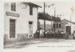 PHOTO - ROQUESTERON - ARRIVÉE DU TRAMWAY - - Trains