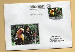 Privatpost Biberpost - Vögel - Papageien - Sonnensittich (Aratinga Solstitialis) Auf Brief - BRD
