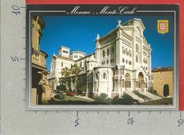 CARTOLINA VG MONACO - La Cathedrale - 10 X 15 - ANN. 1995 FEUX D'ARTIFICE - Cattedrale Dell'Immacolata Concezione