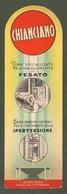 """09147 """"SEGNALIBRO - CHIANCIANO - TERME SPECIALIZZATE PER CURA DELLA MALATTIE DEL FEGATO - 1930""""  ORIG - Segnalibri"""