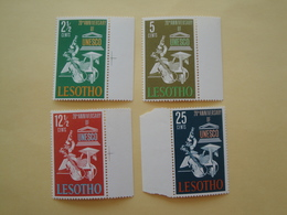 1966 Lesotho Yv 123/6 ** MNH UNESCO Cote 3.00 €  Michel 21/4  Scott 21/4  SG 121/4 - Lesotho (1966-...)