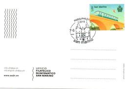 Paris-Philex 2018 - San Marino - Cartolina Carte - Saint-Marin
