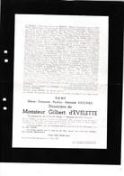 BOUVIGNES SENENNE ANHEE Marie-Françoise BAUCHAU Veuve Gilbert D'EVELETTE 1851-1947 En 2 Volets Complets - Décès