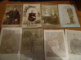 8 Photos Anciennes D'hommes Et Femmes Des Années 1900, Une Est Datée De 1902 - Altri