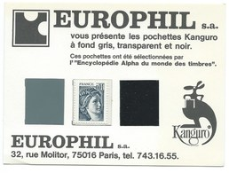 CARTE POSTALE / EUROPHIL / POCHETTES KANGURO - Timbres (représentations)