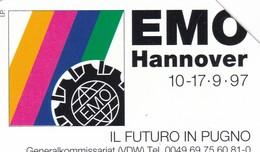SCHEDA TELEFONICA  EMO HANNOVER  SCADENZA 30/06/1996 USATA - Italy