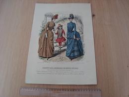 GRAVURE JOURNAUX DE MODES REUNIS H.LEFEVRE IMP PARIS ABEL GOUBAUD TOILETTE DE MME MOLARD - Vieux Papiers