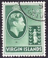 BRITISH VIRGIN ISLANDS 1938 KGVI 1/2d Green SG110 FU - British Virgin Islands