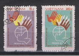 VIETNAM  REPUBBLICA:  1983  PRAGA  -  S. CPL. 2  VAL.  US. -  MICHEL  1400/01 - Vietnam