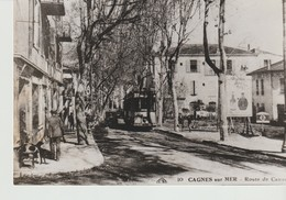 PHOTO -CAGNES SUR MER  - ROUTE DE CANNES - UN DÉSIR NOMME TRANWAY - - Lieux