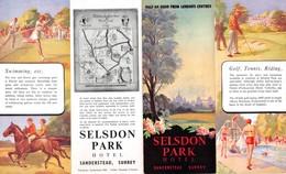 "09152 ""LONDON - SELSDON PAEK HOTEL - SANDERSTEAD. SURREY - PIEGHEVOLE 1960 - 5 ILLUSTRAZIONI A COLORI"" ANIMATO. ORIG - Dépliants Turistici"