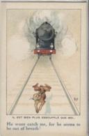 CPA - ILLUSTRATION MICH - Scène Train - Edition S.I.D - Mich