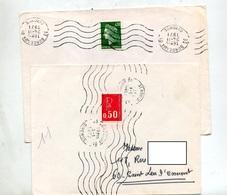 Lettre Flamme Muette Bordeaux - Marcophilie (Lettres)
