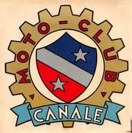 "09153 ""CANALE D'ALBA (CN) - MOTOCLUB - VETROFANIA COMMATA SUL FRONTE"" ORIG - Automobilismo - F1"