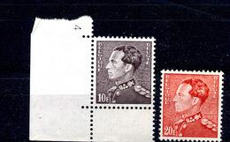 Belgique 848A Et B Phosphore ** - 1936-51 Poortman
