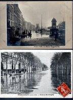 LOT DE 16 CPA FRANCE 1910 - CRUE DE LA SEINE - - Cartoline