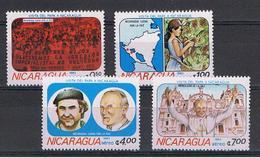 NICARAGUA:  1983  VISITA  DEL  PAPA  -  S. CPL. 4  VAL. N. -  MICHEL  2371/74 - Nicaragua