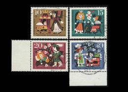 Berlin 1964, Michel-Nr. 237 - 240, Wohlfahrt 1964, Bogenrand Siehe Foto, Gestempelt - Gebraucht