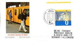 "BRD Schmuck-FDC: ""100 Jahre Berliner U-Bahn"", Mi.2242 ESSt 7.2.2002 BERLIN ZENTRUM - [7] République Fédérale"