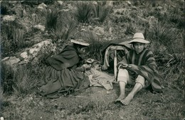 Cusco Native People Making A Rest/Einheimischer Beim Ausruhen, Siesta 1985 Privatfoto - Peru