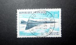 FRANCE POSTE AÉRIENNE 1969 N°43 OBL. (CONCORDE. PREMIER VOL 1969. 1,00 BLEU CLAIR ET BLEU-NOIR) - Poste Aérienne