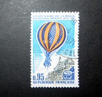 FRANCE POSTE AÉRIENNE 1971 N°45 OBL. (CENTENAIRE DE LA POSTE PAR BALLONS MONTÉS. 0,95 BLEU, ORANGE, OLIVE ET BLEU FONCÉ) - Poste Aérienne