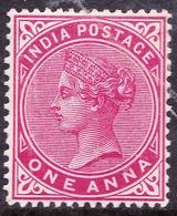 INDIA 1900 QV 1 Anna Carmine SG115 MH - India (...-1947)