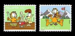 2014 Switzerland - Garfield - Shokolade And Fondue - Set Of 2 V - S.adhesive - MNH** MI 2357/58 - Suiza