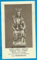 Holycard   O.L.V. Onder Den Toren   Grimbergen - Devotion Images
