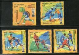 India 2018 Odisha Men�s Hockey World Cup Turtle Sports Sikhism Set Of 5v MNH - Unused Stamps