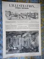L' ILLUSTRATION 05/10/1861 NAUFRAGE GREAT EASTERN CHINE CANTON BETHUNE VIADUC ANDELOT BERTALL PARIS PONT LOUIS PHILIPPE - Periódicos